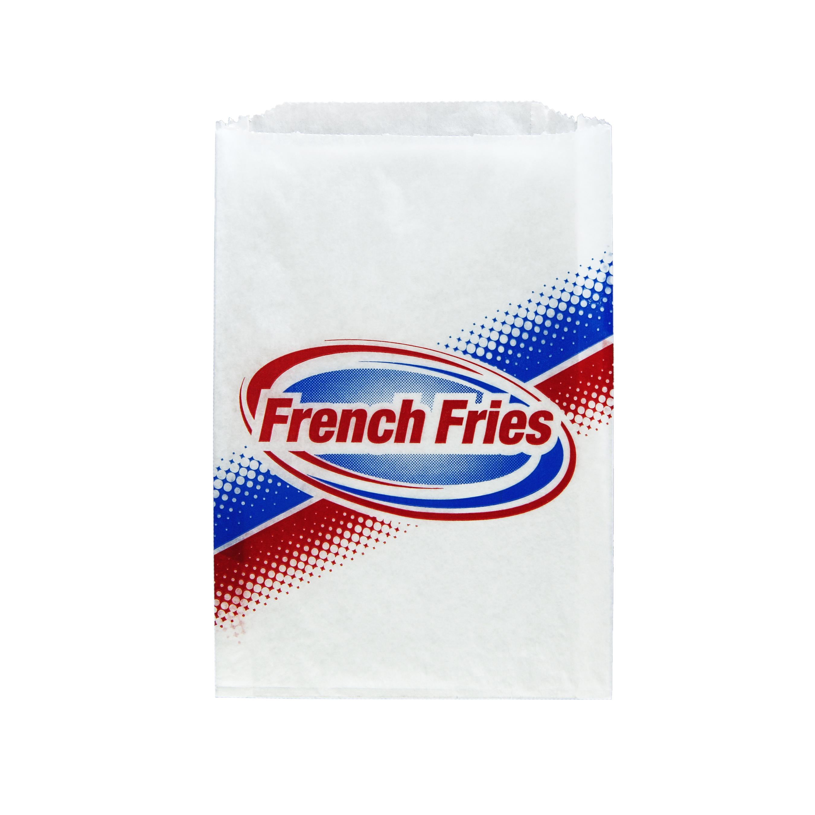 FRY BAG PRINTED 5.5X1X8 802