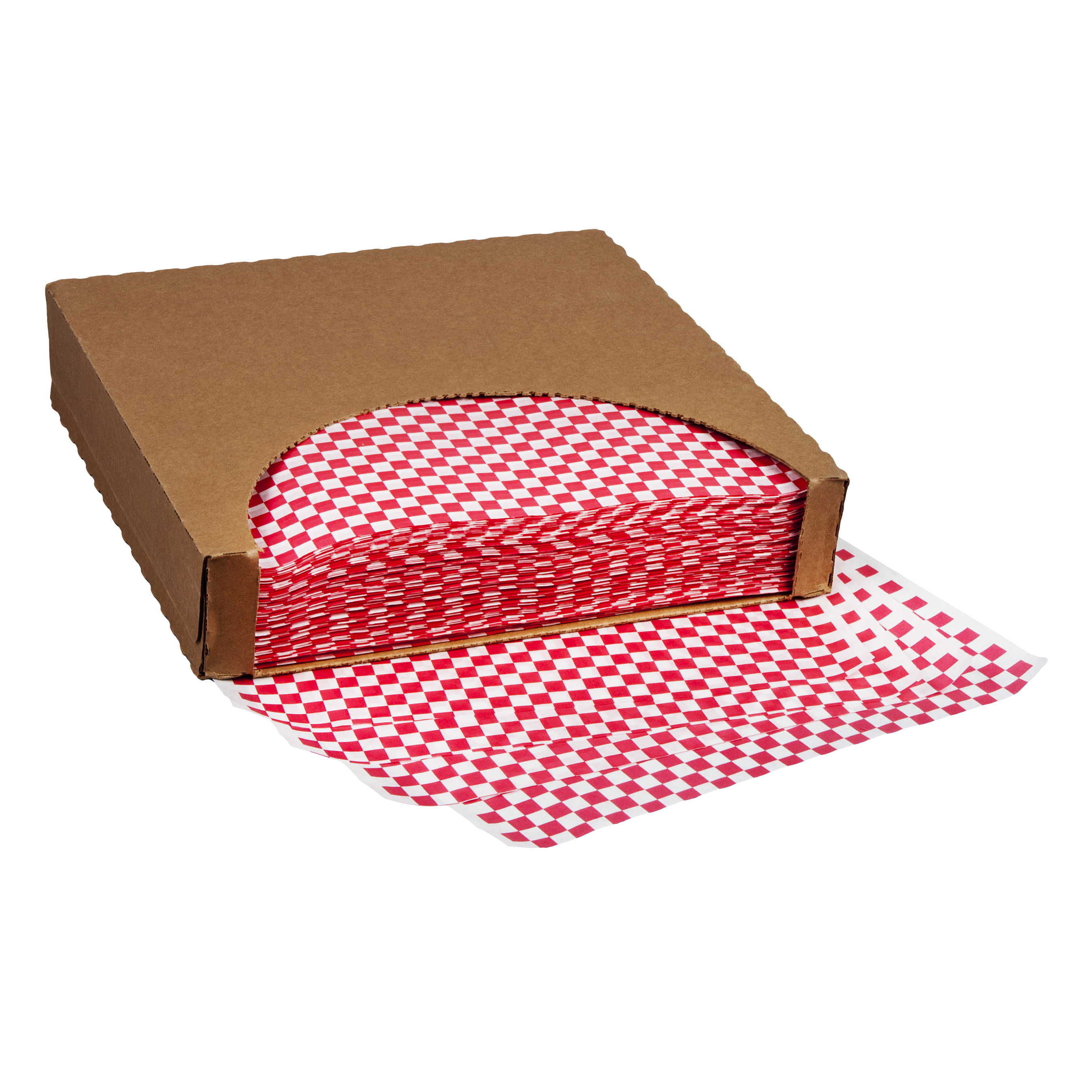 WAX DELI SHEET/RED CHK 12X12