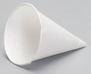 PAPER CUP 4OZ 4BR CONE SHAPE