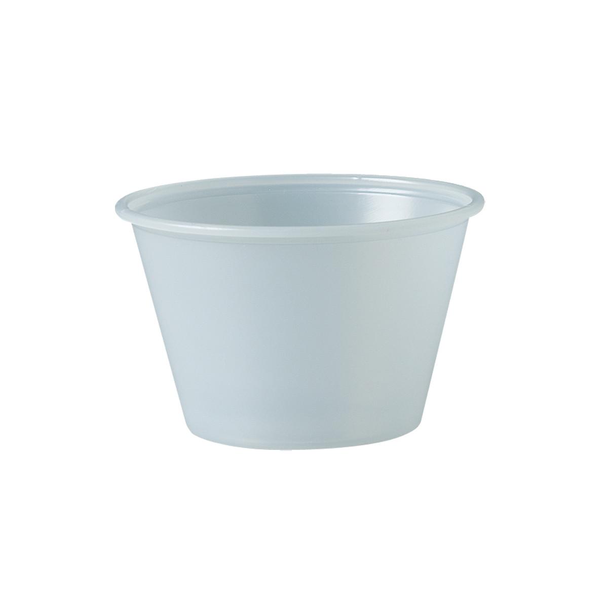 PLASTIC SOUFFLE CUP 4 OZ