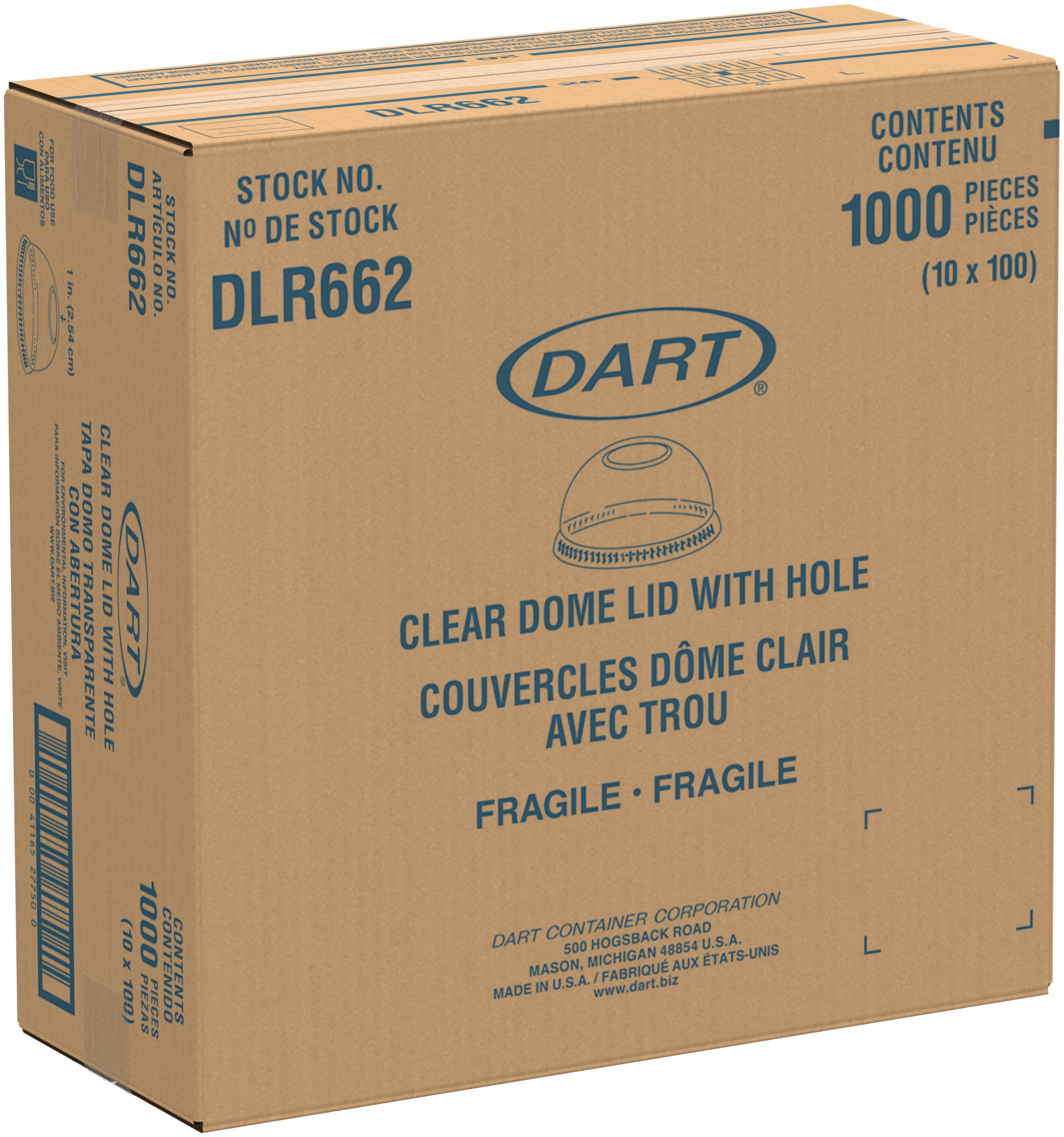 LID DOME DLR662 W/SMALL HOLE