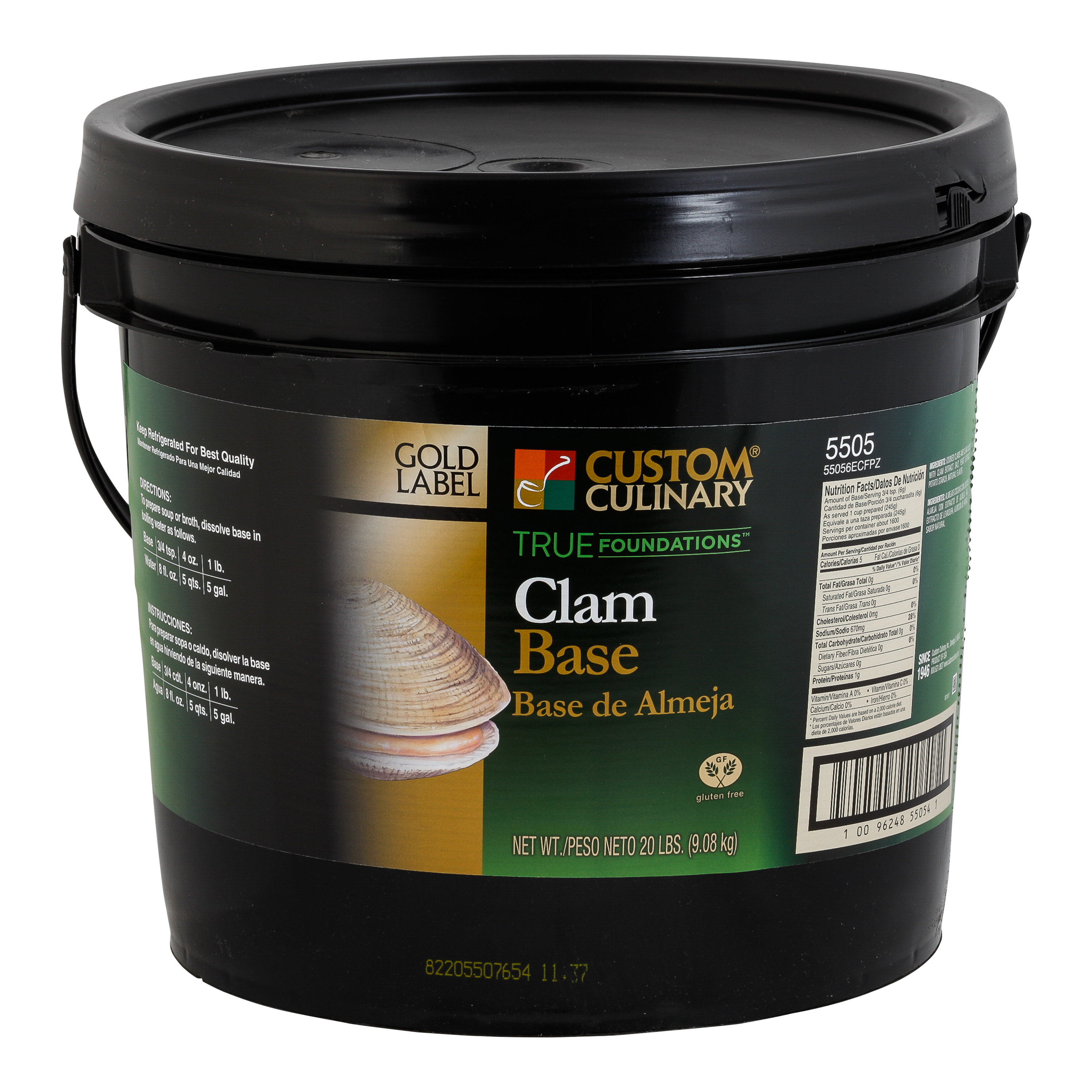 5505 - GOLD LABEL Clam Base No MSG added Gluten Free Clean Label