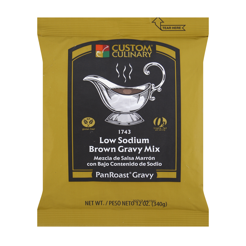 1743 - PanRoast Low Sodium Brown Gravy Mix
