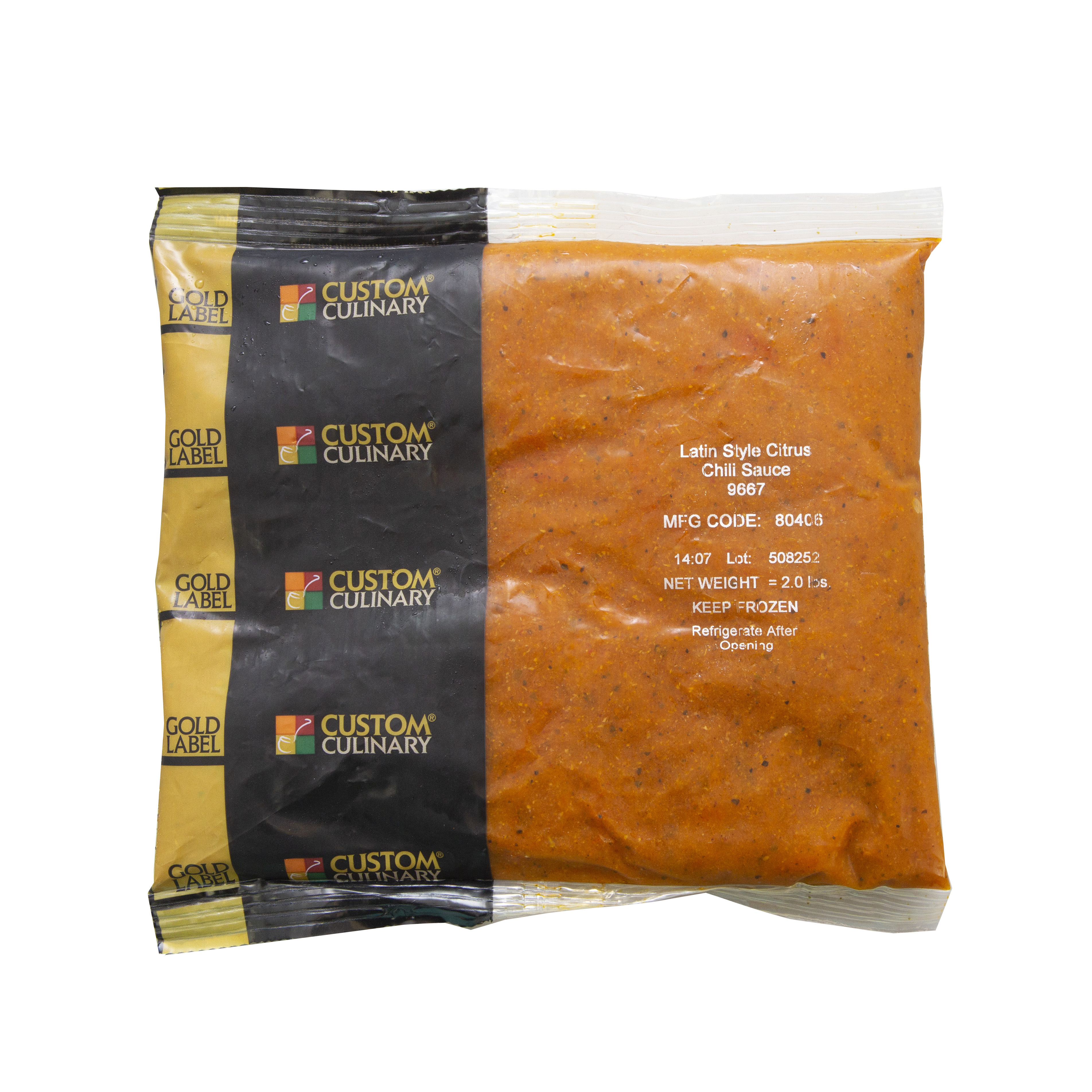 9667 - GOLD LABEL Ready-To-Use Frozen Latin -Style Citrus Chili Sauce