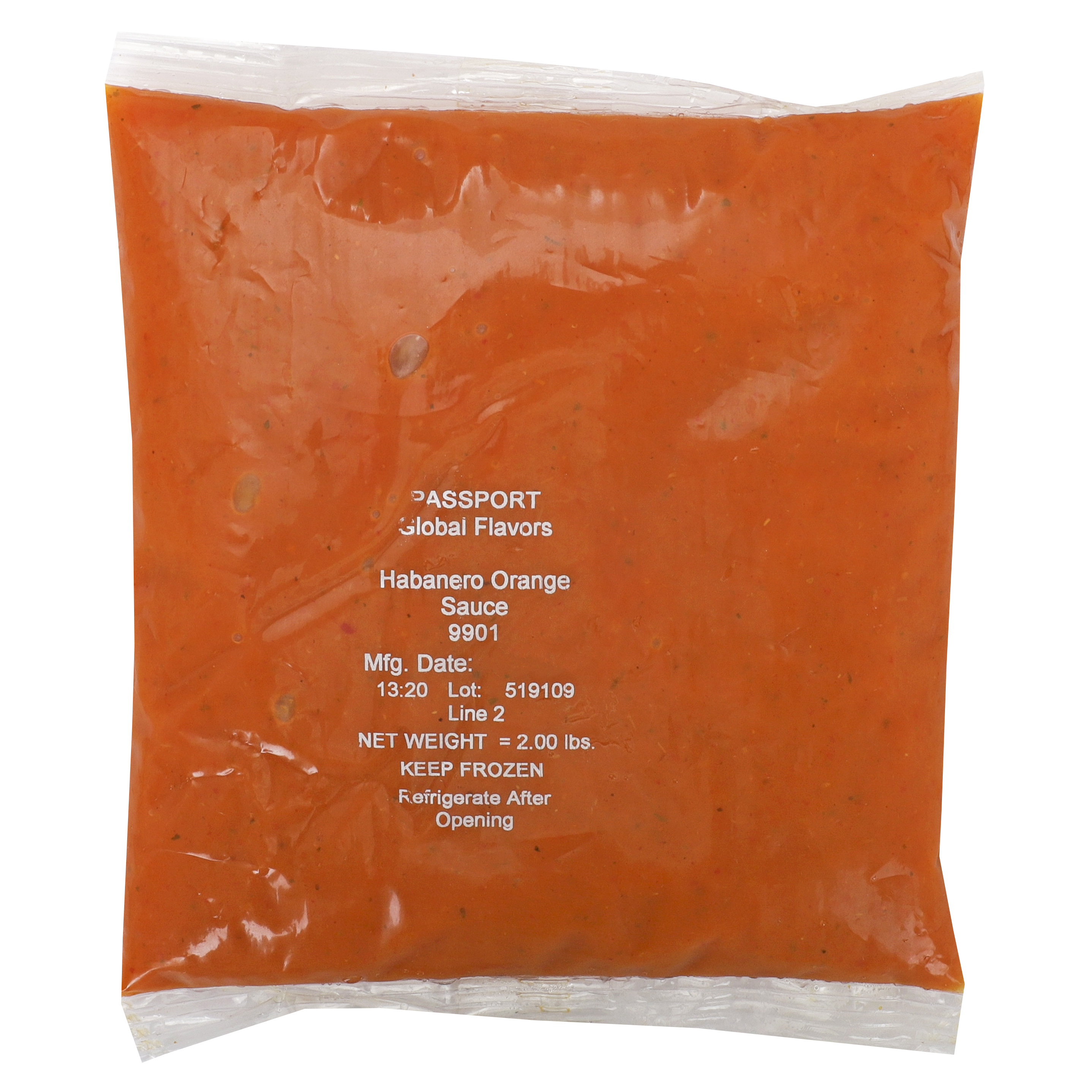 9901 - Passport Global Flavors By Custom Culinary Habanero Orange Sauce