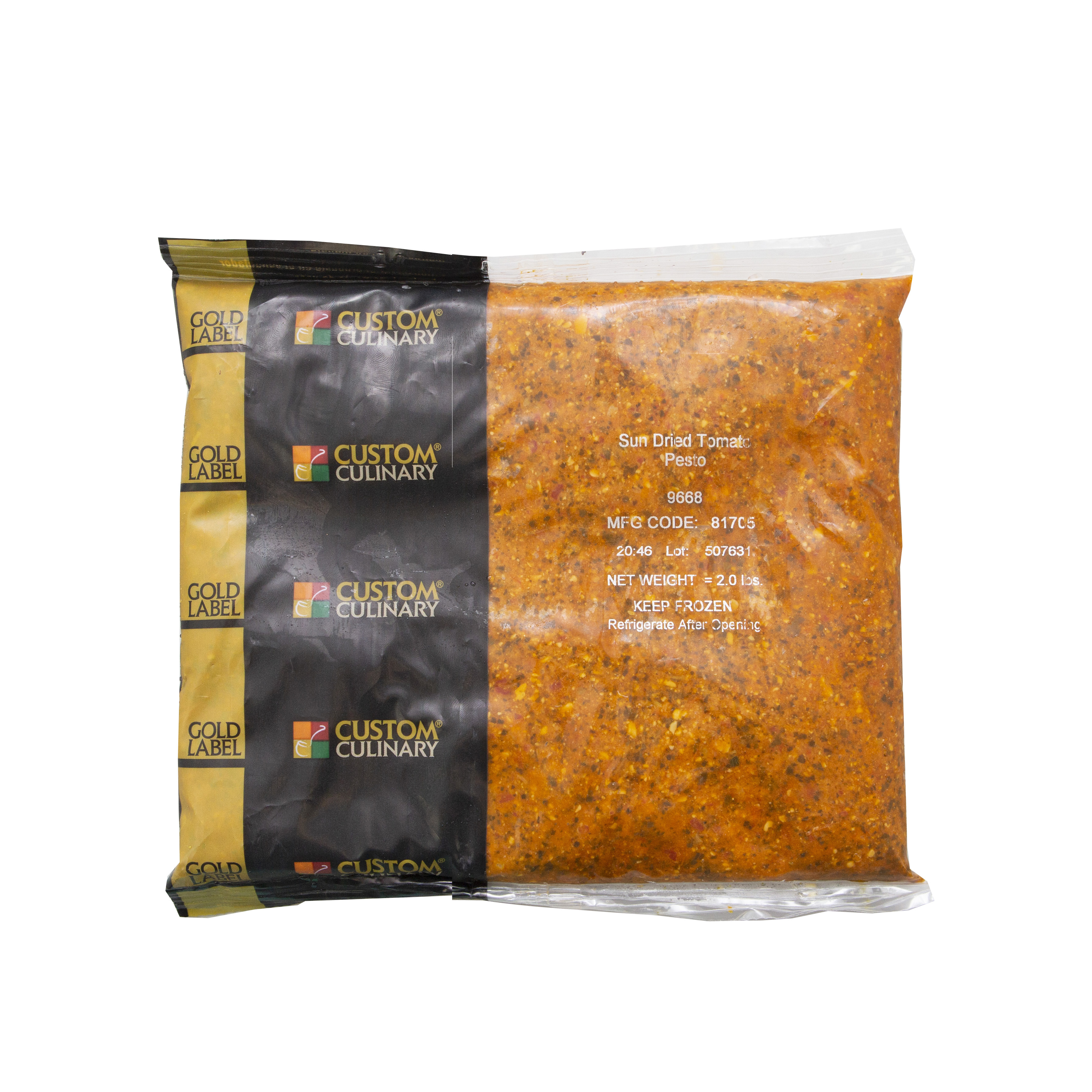 9668 - GOLD LABEL Ready-To-Use Frozen Sundried Tomato Pesto Sauce
